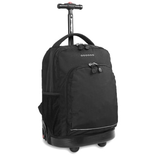 J World Black Sunny 17-inch Rolling Backpack
