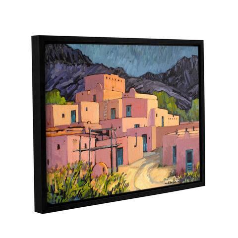 ArtWall Rick Kersten 'Taos Pueblo' Gallery-wrapped Floater-framed Canvas
