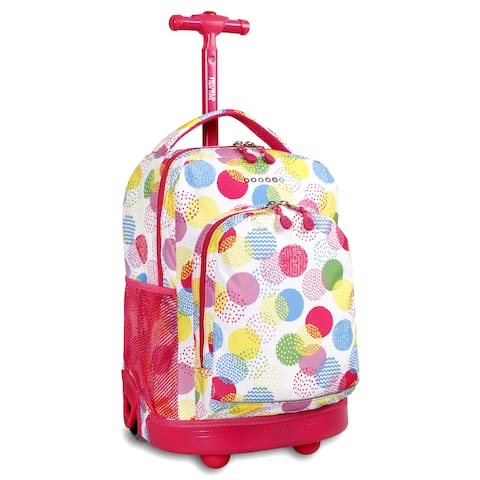 J World Speckle Sunny 17-inch Rolling Backpack