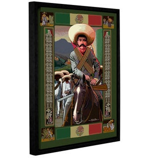 ArtWall Rick Kersten 'Zapata' Gallery-wrapped Floater-framed Canvas
