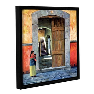 ArtWall Rick Kersten 'Guanajuato Door' Gallery-wrapped Floater-framed Canvas