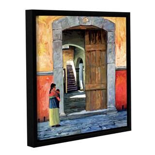 ArtWall Rick Kersten 'Guanajuato Door' Gallery-wrapped Floater-framed Canvas
