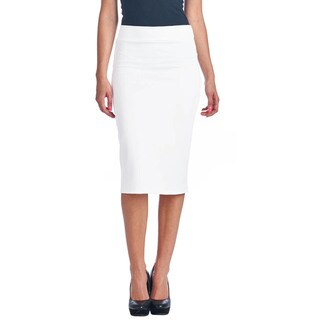 Mid Length High Waist Women's Scuba Solid Pencil Skirt|https://ak1.ostkcdn.com/images/products/10404415/P17506071.jpg?_ostk_perf_=percv&impolicy=medium