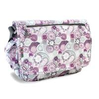 J World Purple Lemon Terry Messenger Bag