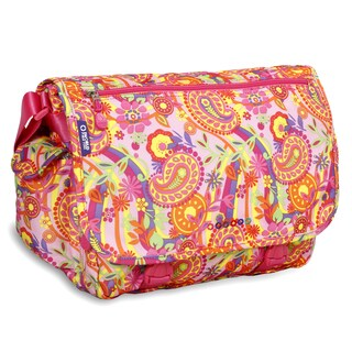 J World Pink Paisley Terry Messenger Bag