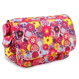J World Poppy Pansy Terry Messenger Bag