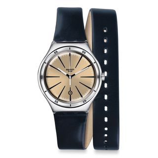 Swatch Women's YWS408 'Irony' Blue Leather Watch