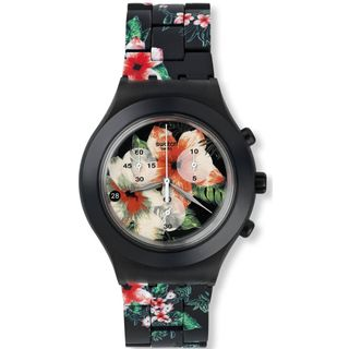 Swatch Women's SVCF4002AG 'Irony' Chronograph Black Aluminum Watch