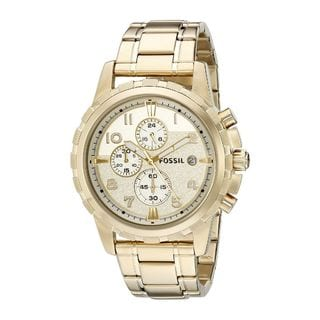Fossil Men's FS4867 'Dean' Chronograph Gold-Tone Stainless Steel Watch