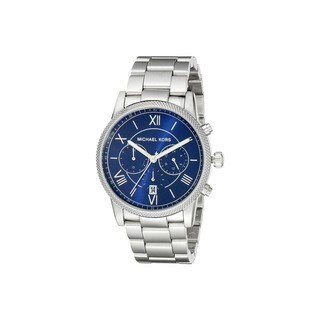 Michael Kors Men's Hawthorne Chronograph Blue Dial Stainless Steel Bracelet Watch MK8395