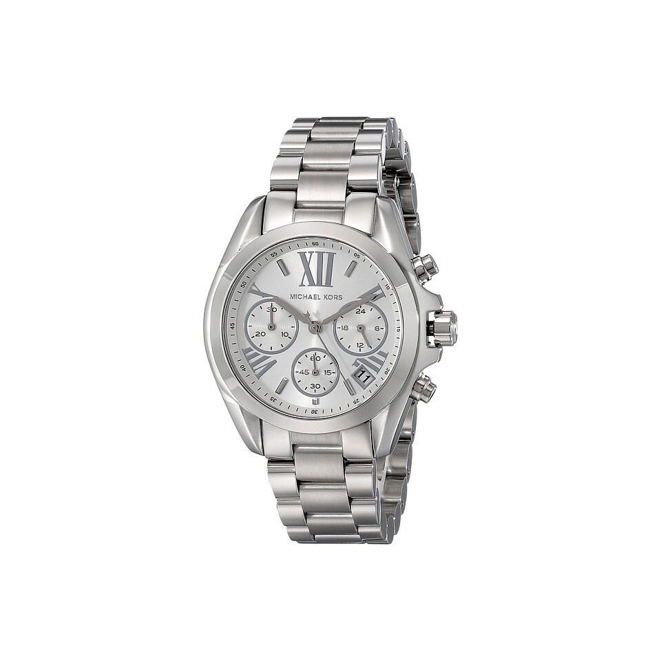 Michael Kors Women S Bradshaw Chronograph Silver Dial Stainless Steel Bracelet Watch