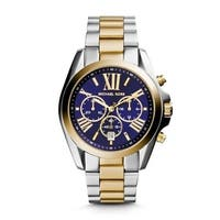 Michael Kors Women's MK5976 Bradshaw Chronograph Blue Dial Two-Tone Stainless Steel Bracelet Watch