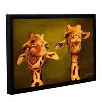 ArtWall Lindsey Janich 'Giraffe Buddies' Gallery-wrapped Floater-framed Canvas