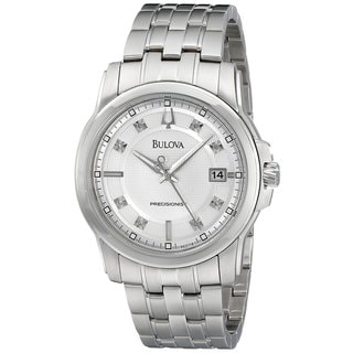 Bulova Men's Precisionist Diamond Silver Dial Stainless Steel Watch 96D118