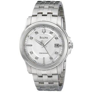 Bulova Men's Precisionist Diamond Silver Dial Stainless Steel Watch 96D118