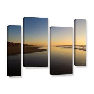 ArtWall Lindsey Janich 'Equihen Plage ' 4 Piece Gallery-wrapped Canvas Staggered Set