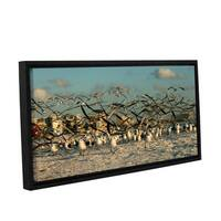 ArtWall Lindsey Janich 'Crazy Birds' Gallery-wrapped Floater-framed Canvas - Multi