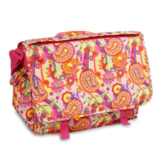 J World Pink Paisley Thomas 15.4-inch Laptop Messenger Bag
