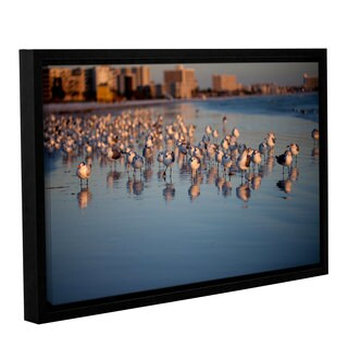 ArtWall Lindsey Janich 'Seagullsii' Gallery-wrapped Floater-framed Canvas - multi