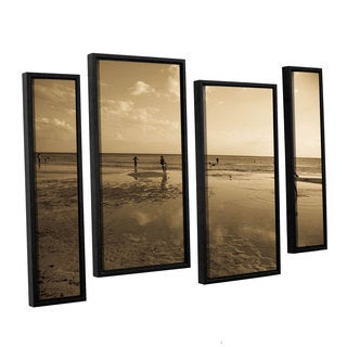 ArtWall Lindsey Janich 'Sunny Day' 4 Piece Floater Framed Canvas Staggered Set