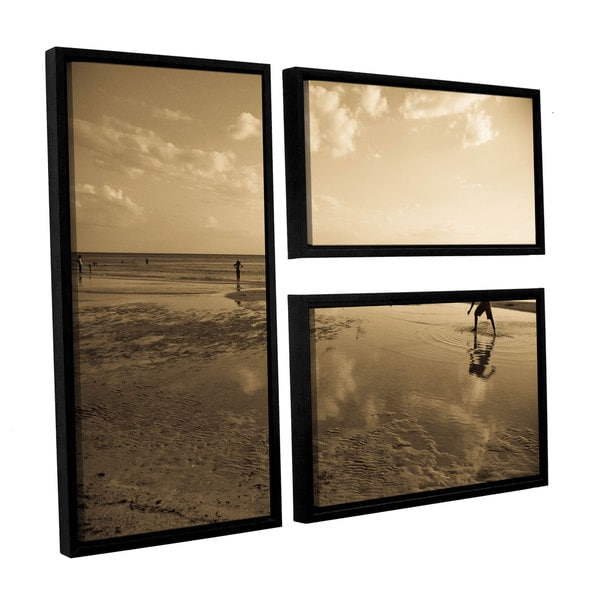 ArtWall Lindsey Janich 'Sunny Day' 3 Piece Floater Framed Canvas Flag Set