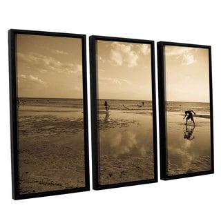 ArtWall Lindsey Janich 'Sunny Day' 3 Piece Floater Framed Canvas Set