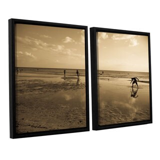 ArtWall Lindsey Janich 'Sunny Day' 2 Piece Floater Framed Canvas Set