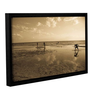 ArtWall Lindsey Janich 'Sunny Day' Gallery-wrapped Floater-framed Canvas