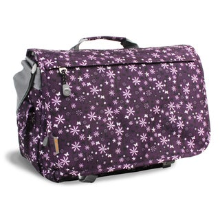 J World Garden Purple Thomas 15.4-inch Laptop Messenger Bag