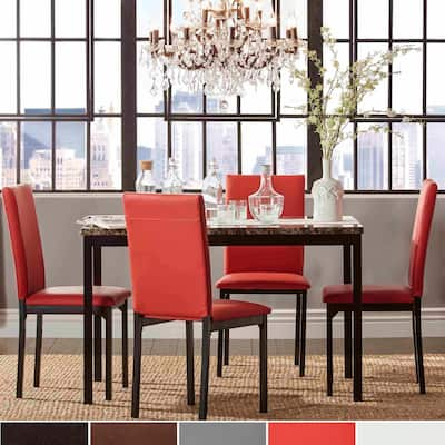 Darcy Faux Marble Top Metal 5-Piece Dining Set by iNSPIRE Q Bold