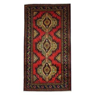 Herat Oriental Afghan Hand-knotted Tribal Balouchi Wool Rug (3'4 x 6'2)