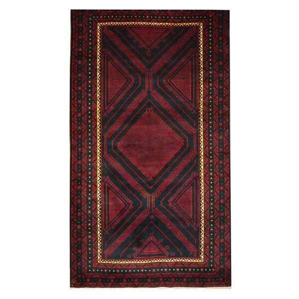 Handmade One-of-a-Kind Balouchi Wool Rug (Afghanistan) - 3'10 x 6'10