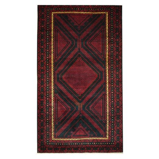 Herat Oriental Afghan Hand-knotted Tribal Balouchi Wool Rug (3'10 x 6'10)