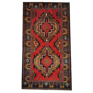 Herat Oriental Afghan Hand-knotted Tribal Balouchi Wool Rug (3'6 x 6'7)