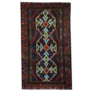 Herat Oriental Afghan Hand-knotted Tribal Balouchi Wool Rug (3'6 x 6'4)