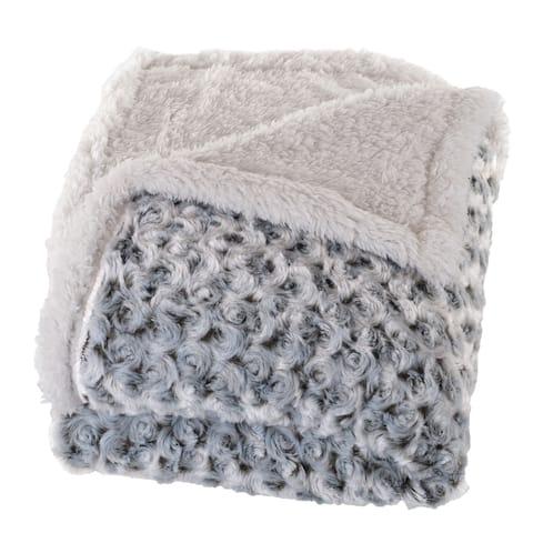 Windsor Home Plush Flower Fleece Sherpa Throw Blanket