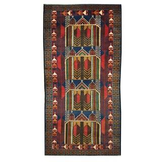 Herat Oriental Afghan Hand-knotted Tribal Balouchi Wool Rug (3'5 x 6'8)