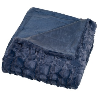 Link to Windsor Home Plush Croc Embossed Faux Fur Mink Throw Similar Items in Blankets & Throws