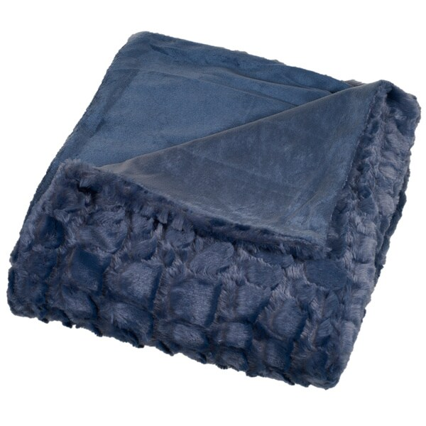 Windsor Home Plush Croc Embossed Faux Fur Mink Throw. Opens flyout.