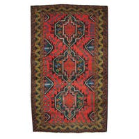 Herat Oriental Afghan Hand-knotted Tribal Balouchi Wool Rug (3'9 x 6'4) - 3'9 x 6'4