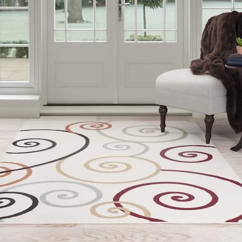 "Windsor Home Modern Swirls Area Rug - 5' x 7'7"""