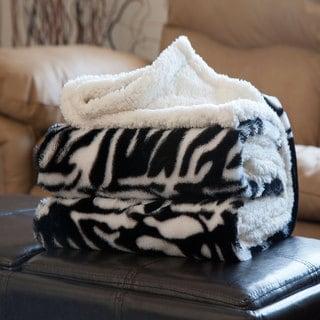 Windsor Home Fleece Sherpa Blanket Throw