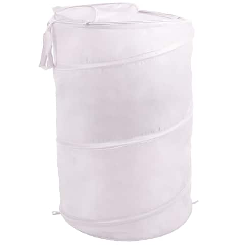 Pop Up Laundry Hamper Bag with Carrying Straps by Windsor Home