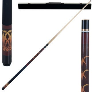Fantasy Dragon 2 Piece Billiard Cue Stick with Case by Trademark Gameroom