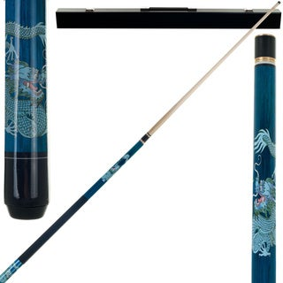 Dragon 2 Piece Billiard Cue Stick with Case by Trademark Gameroom