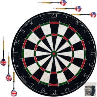 Pro-Style Bristle Dart Board Set with 6 Darts and Board by Trademark Gameroom