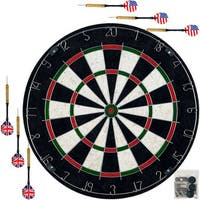 Trademark Gameroom Pro-style Bristle Dart Board Set with 6 Darts and Board