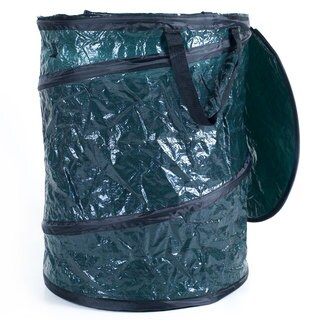 Collapsible Utility Bin Garbage Can with Lid - Camping, Leaves & More
