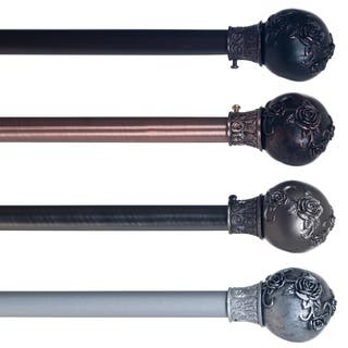 Windsor Home Floral Ball Curtain Rod 3/4 inch|https://ak1.ostkcdn.com/images/products/10404902/P17506432.jpg?impolicy=medium