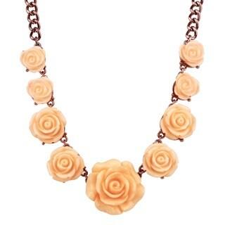 Handmade Saachi Rose Petal Station Necklace (China)